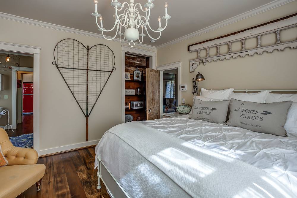 Master bedroom of a VRBO in Franklin TN