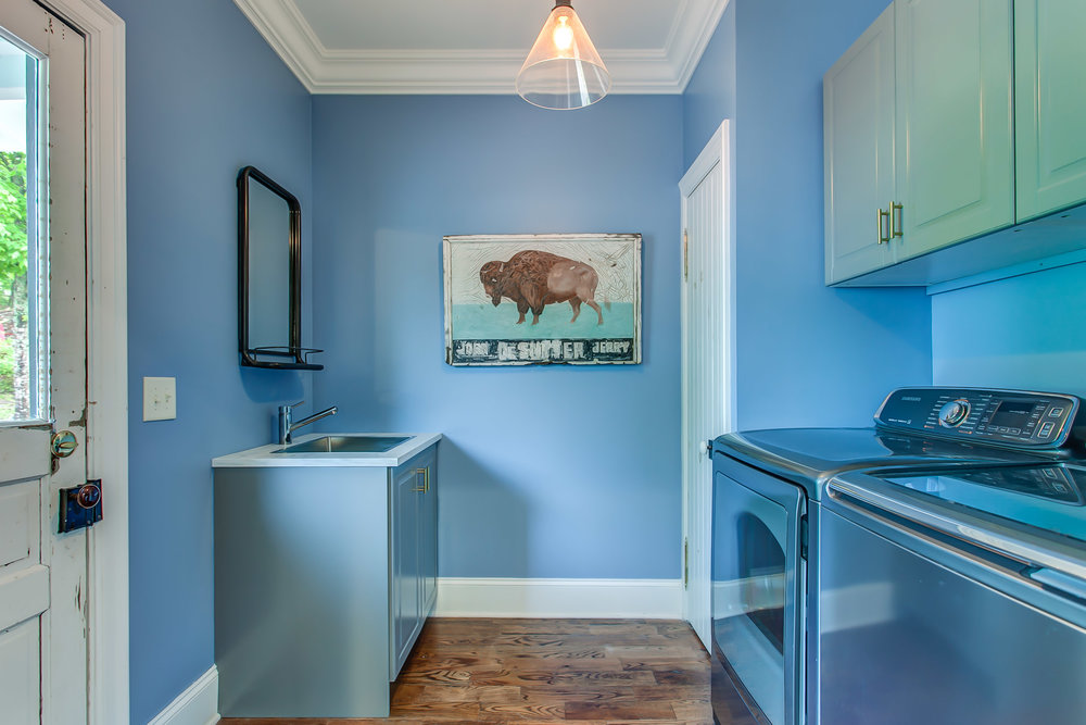 The laundry room at the Leiper's Fork Inn | Pot N' Kettle Cottages