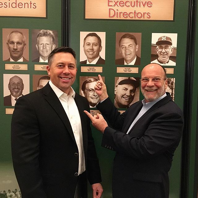 Having a great time with Craig Keilitz, the Executive Director of the ABCA! So thankful to have such great supporters of #T2FY . . . . . #Letsturntwo #turntwo #T2FY #turntwoforyouth #baseball #youthbaseball #giveback #donate #donateclt #charlottesgotalot #teamsports #teamwork #donatecharlotte #givebackcharlotte #thankyou #ABCA