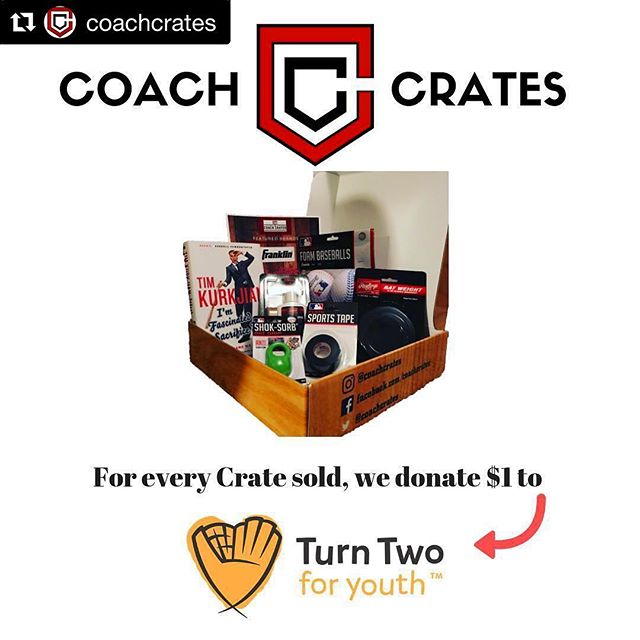 Have you heard of @coachcrates? Calling all baseball fans, this one is for you! Coach Crates is an innovative baseball subscription box, chock full of the latest and greatest baseball products, gear, books, and more. And- for EVERY box sold they donate $1 to Turn Two! Support #T2FY now by checking out their company. . . . . #Letsturntwo #turntwo #T2FY #turntwoforyouth #baseball #youthbaseball #giveback #donate #donateclt #charlottesgotalot #teamsports #teamwork #donatecharlotte #givebackcharlotte #thankyou #coachcrates #baseballsubscriptionbox