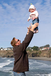 With my daughter Tallulah in Mendocino, California