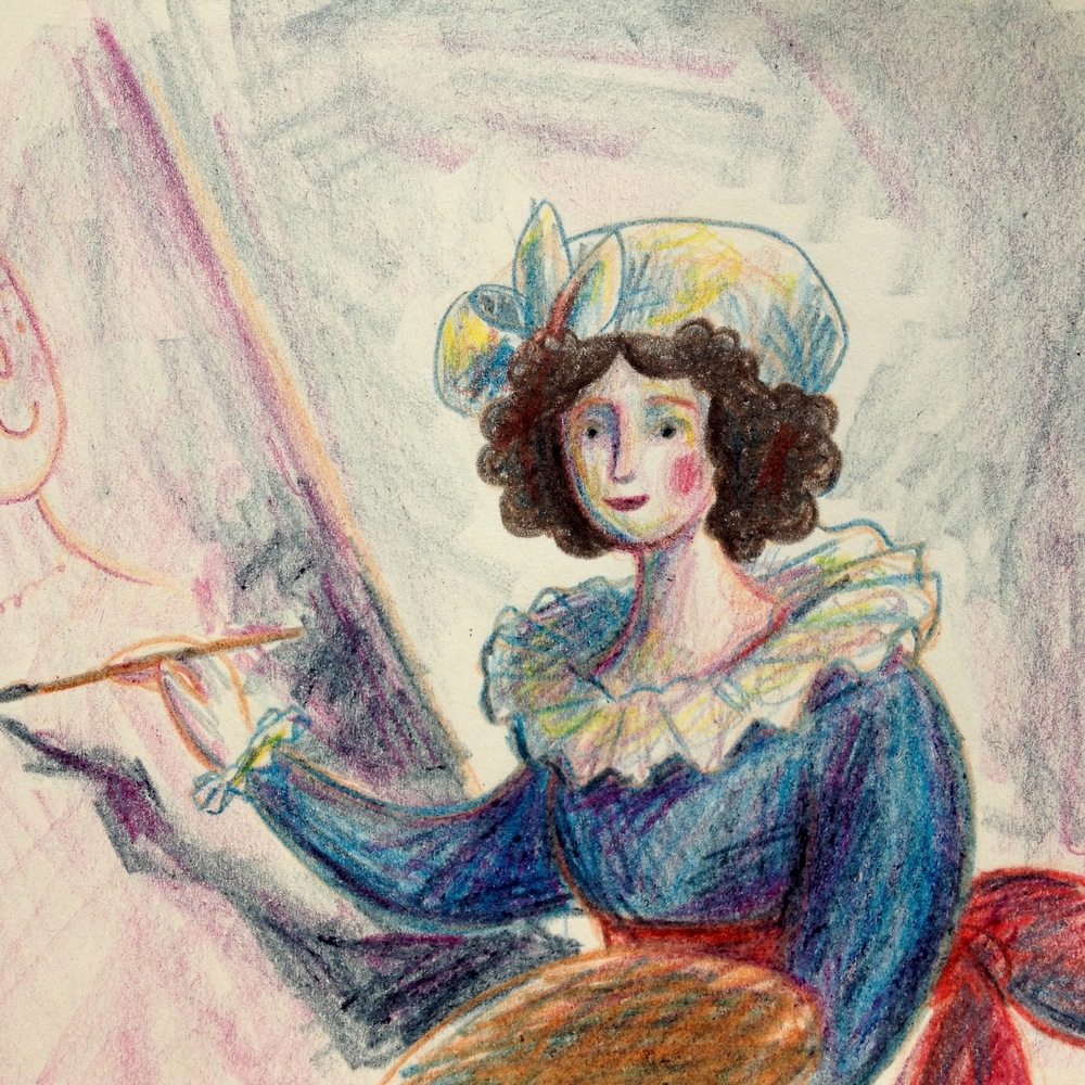 Participated in the @StudioTeaBreak #PortraitChallenge over on Twitter to redraw Elisabeth Louise Vigee Le Brun's self portrait a while back. Really am enjoying being a bit more free exploring colour with coloured pencils at the moment. Had some lovely comments and feedback, must make time to participate more!