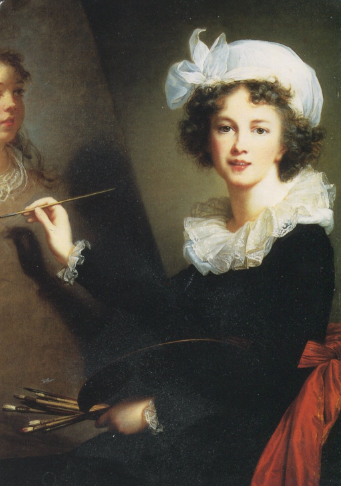 The original Vigee Le Brun portrait posted by the Met Museum on Twitter.