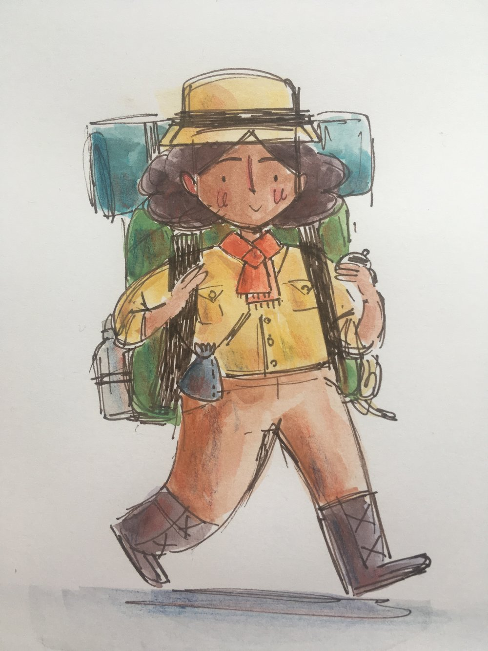 Ada Bell rough character design