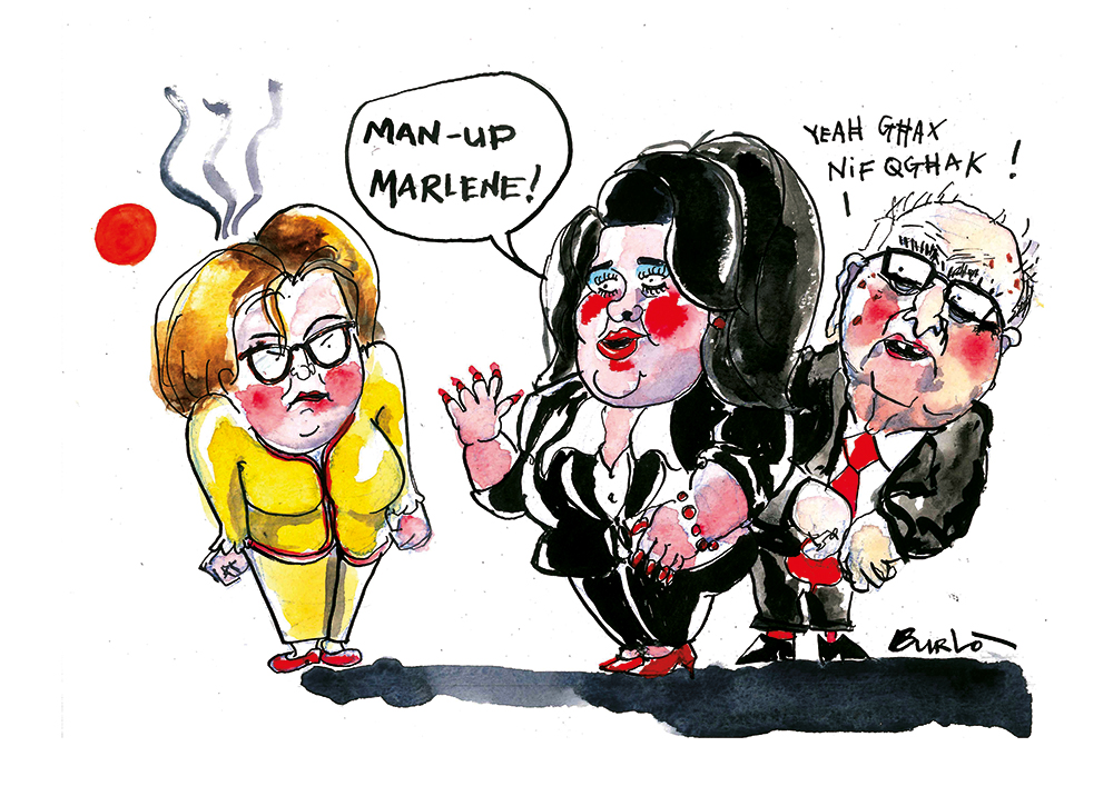 Sunday's Cartoon - Man up Marlene (29.11.15)LR.jpg