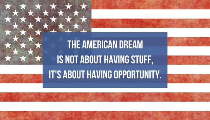 the all american dream The american dream is the right for each person to pursue his or her own idea of happiness its history, from the declaration of independence.
