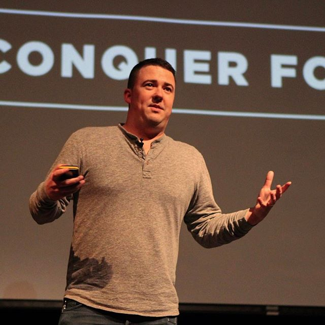 @charliehustleshop co-founder Chase McAnulty speaks at #ConquerForGood about building an iconic Kansas City brand that makes money and meaning. Click the link in our bio to watch his full presentation and others.