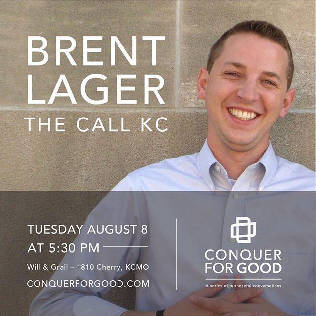 We're excited to announce the first in a series of monthly events from Conquer For Good on August 8th. Click the link in the bio to get your free tickets! _____________________  Join us for Conquer for Good Connect at our office space in the Crossroads to hear from Brent Lager, co-founder of The Call KC, an organization that connects compassionate individuals and groups of volunteers with local organizations in need of their time and talents.