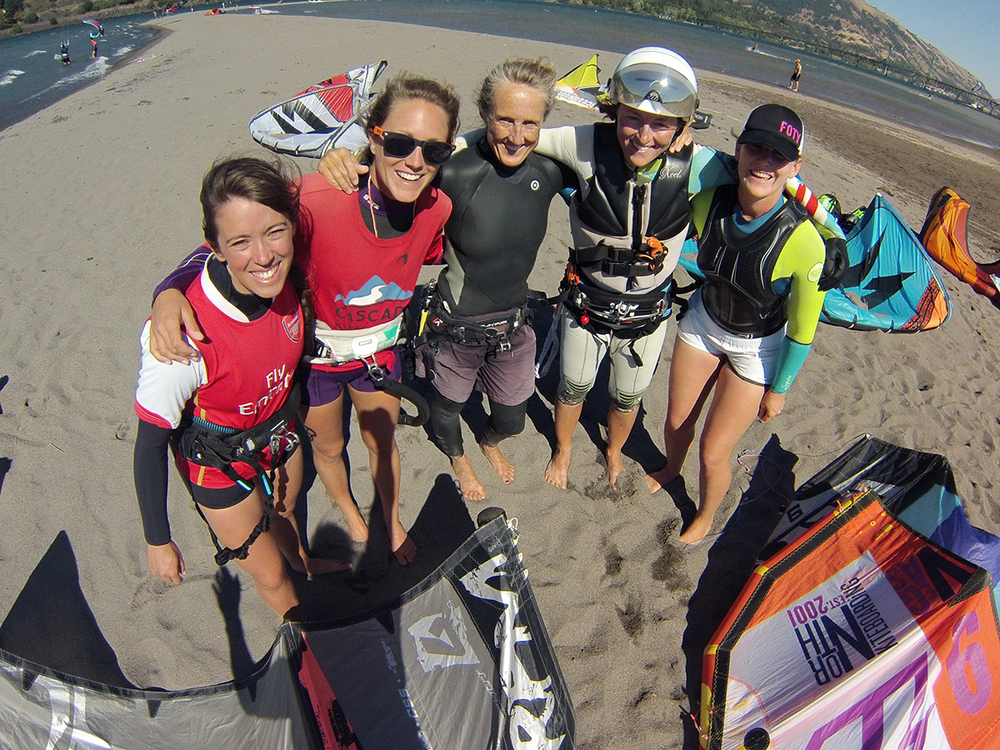 Our women's kiteboarding clinics are a blast and they fill up quick!