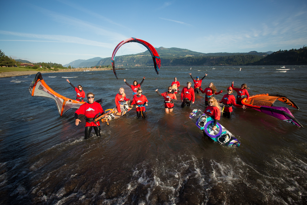 The staff at Cascade Kiteboarding - we have fun!