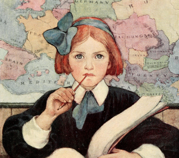 illustration by Jesse Willcox Smith Seven Ages Of Childhood from 1909