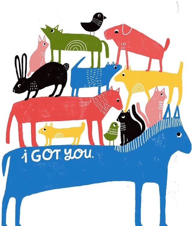 Lisa Congdon   is the genius artist.