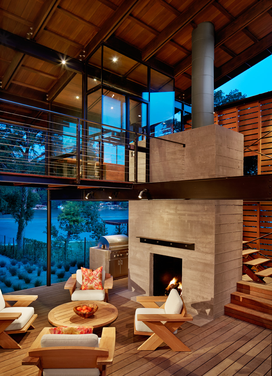 "Hog Pen Creek Retreat   ""The Hog Pen Creek Residence is a beautifully orchestrated choreography of spaces, both outside and inside,"" Texas Society of Architects 2014 Design Awards juror Marlon Blackwell, FAIA, observed."