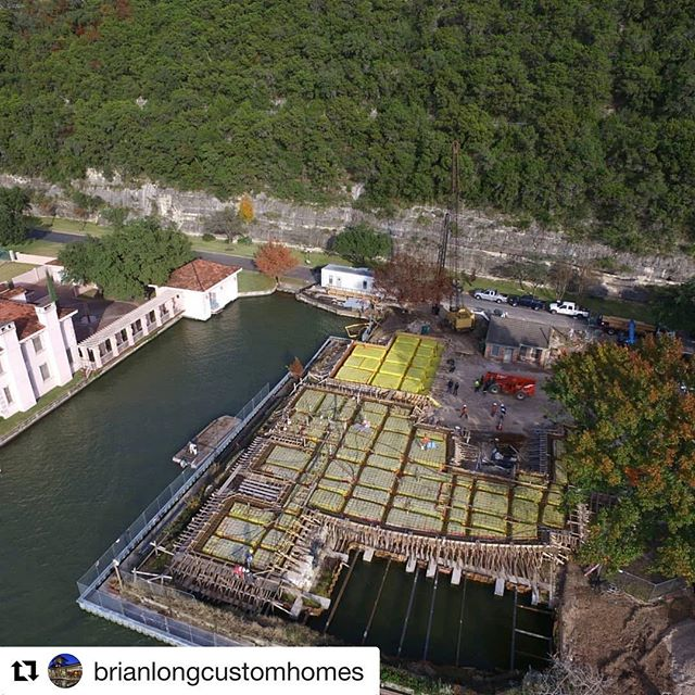 Drone footage of our Lake Austin project, repost courtesy of #brianlongcustomhomes #laruearchitects