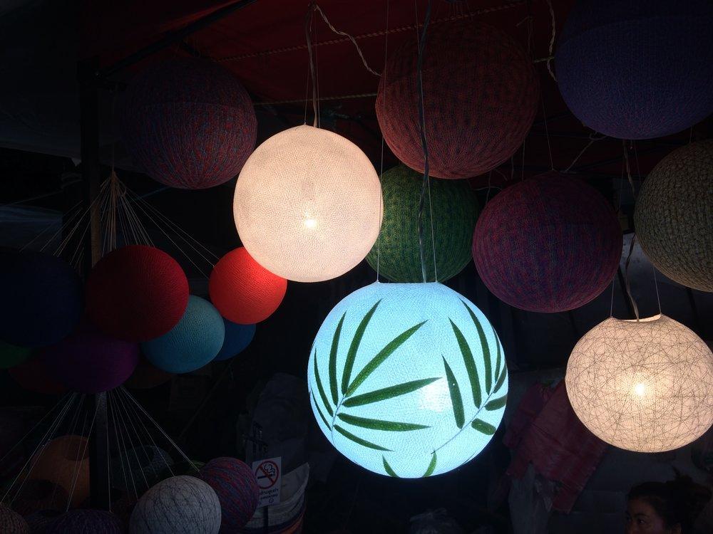 Luang Prabang market lanterns.