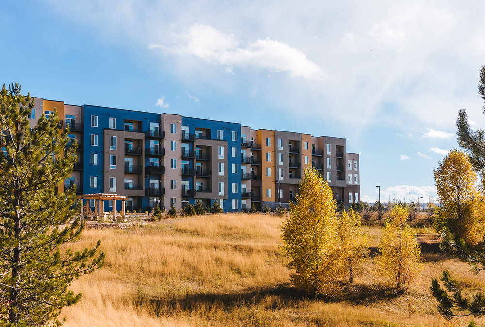 LOCATION:  LONE TREE, CO   CLIENT:  HOLLAND PARTNER GROUP   SIZE:  230 UNITS   DENSITY:  67.1 DU/ACRE   PARKING:  349   BUILDING TYPE:  WOOD FRAME   CONSTRUCTION:  TYPE VA, 4-STORY  MORE INFO+