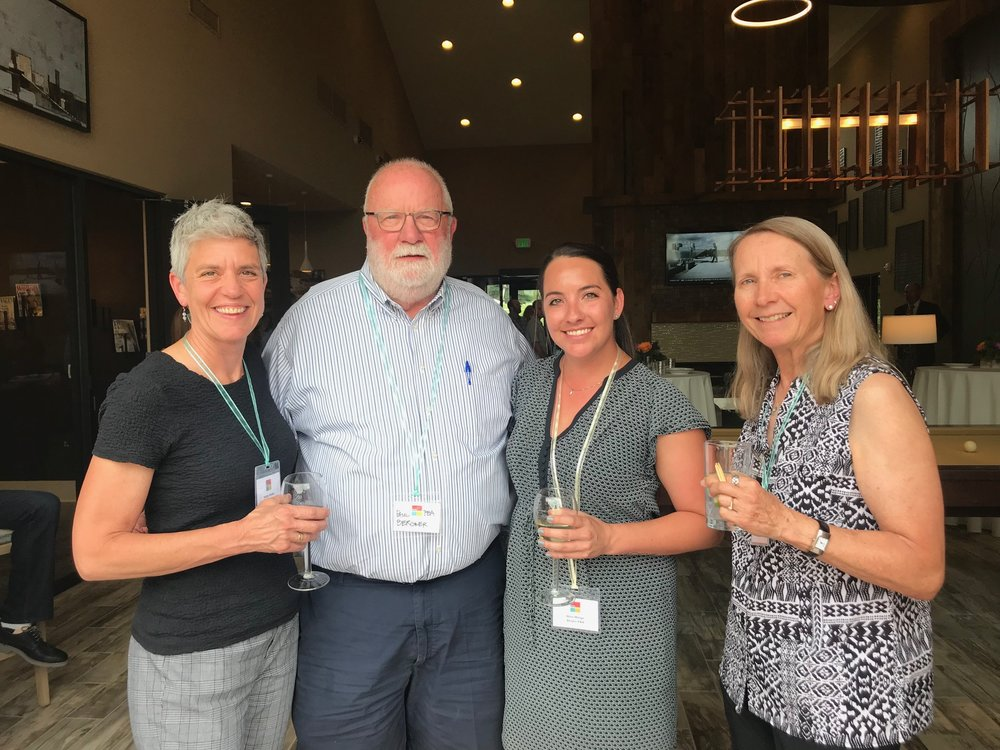 Representatives from Studio PBA, including founder Paul Bergner, Principal and Project Manager Kathy Parker, and Designer Desirae Zamora were on hand to partake in the event (also pictured: Sue Humm of Wood Partners).