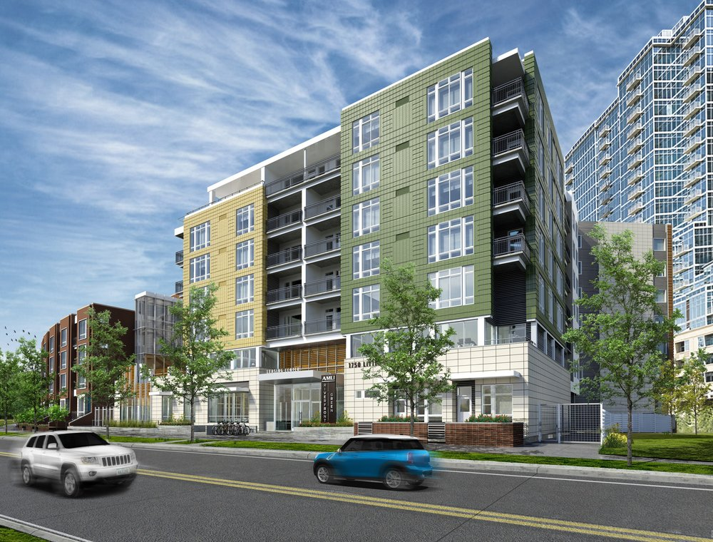 AMLI Riverfront Green is located in Denver's Riverfront Park neighborhood at 1750 Little Raven St. Denver, CO 80202.
