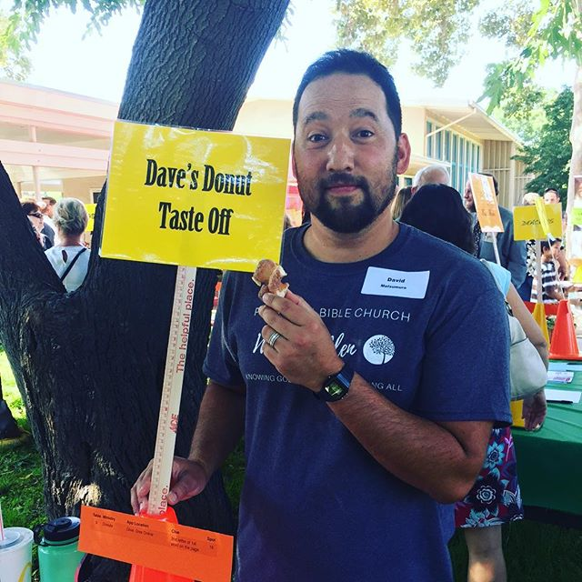 "Another successful and fun ministry fair for the books! #pbcwg ""Eating a donut is living freely"" - @davekalani"