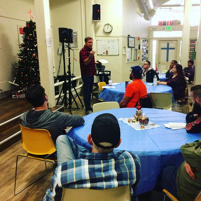 Mark sharing a Christmas message with the guys at City Team SF #cityteam #cityteamsf