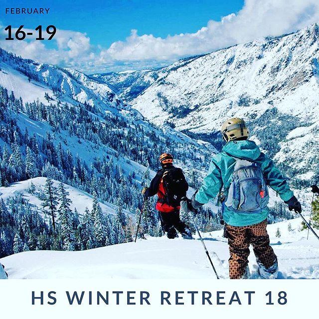 High School Winter Retreat is coming!