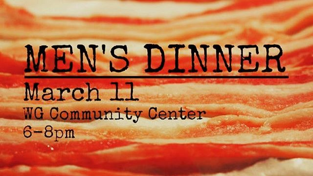 BBQ and Stories. Sign up now  https://pbcwg.org/mens-dinner-signups