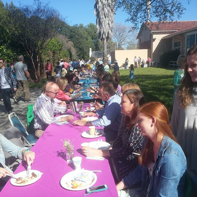 It was a glorious Easter morning with a pancake breakfast & Easter egg hunt. A fitting way to start the fond farewell to the Community Center and hello to Willow Glen Bible Church.