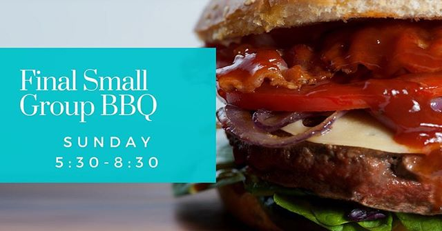 Final Small Group BBQ is Sunday, May 20th, at 5:30pm at the Handel Home! copy and paste the link to Sign up to bring something to share: https://www.signupgenius.com/go/60b054dadab2da6f49-small #itsbbqtime #smallgroups #bbq