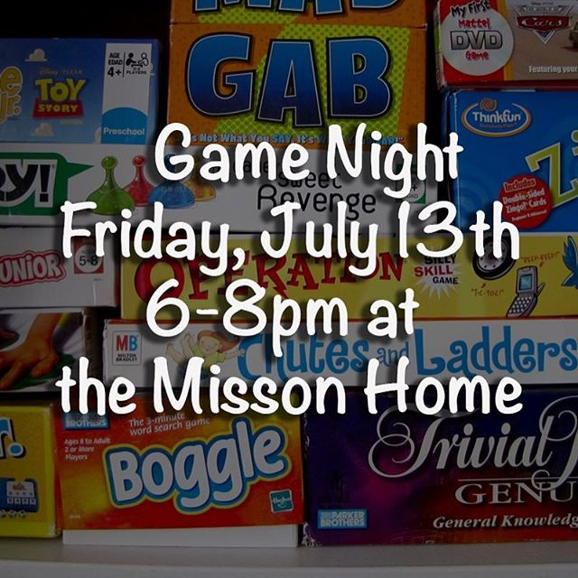#gamenight this Friday, 7/13, at the Misson Home! 6pm-8pm #gameon #yousunkmybattleship
