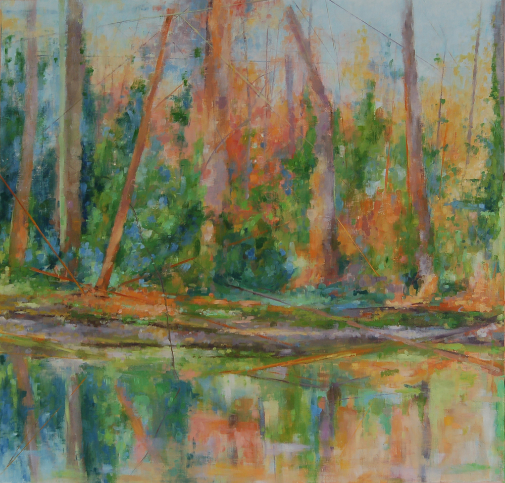 """""""Early Spring"""", 2012, oil on paper, 21"""" x 20"""", private collection"""