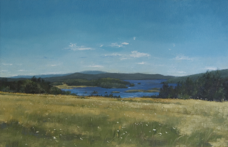"""Looking East"", 2014, oil on canvas, 12"" x 19"""