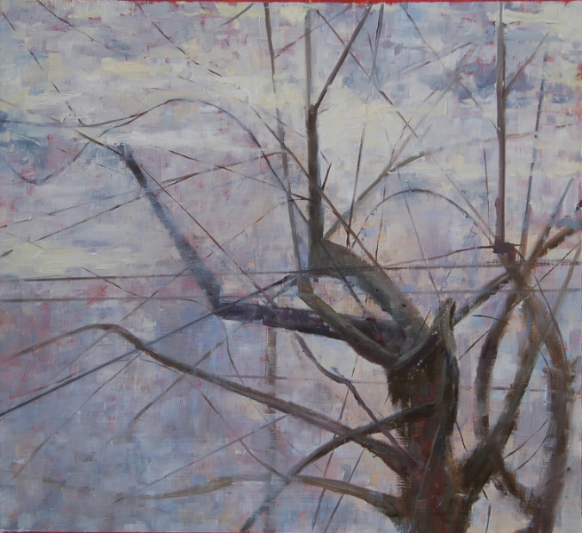 """Winter, New Year"", 2012, oil on paper, 15"" x 16.6"""
