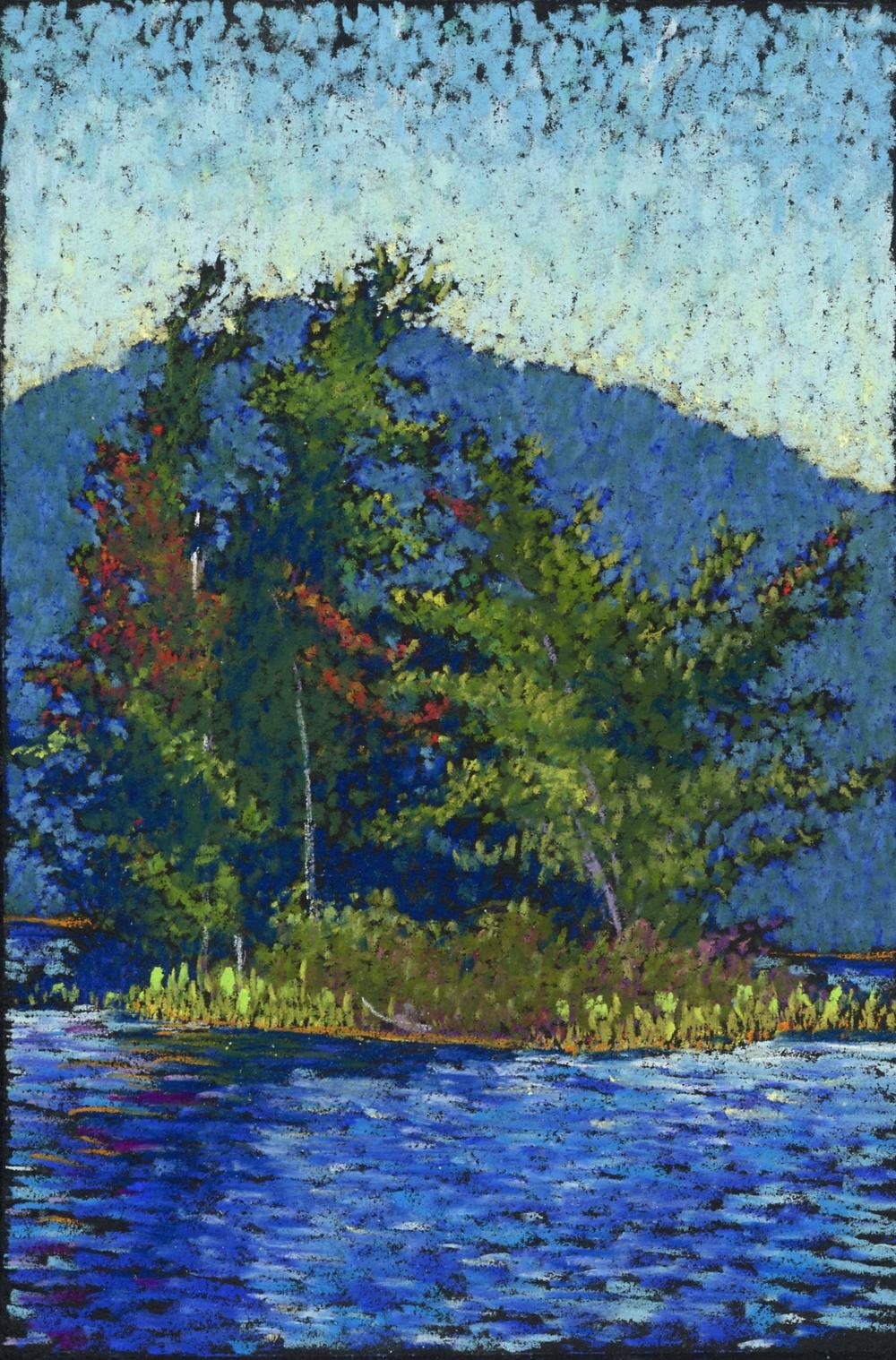 """Snake Island"", 2007, pastel on paper, 7"" x 5"""
