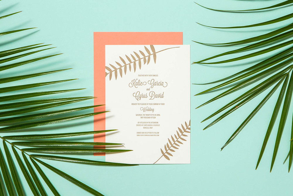 Letterpress Invitation leaves