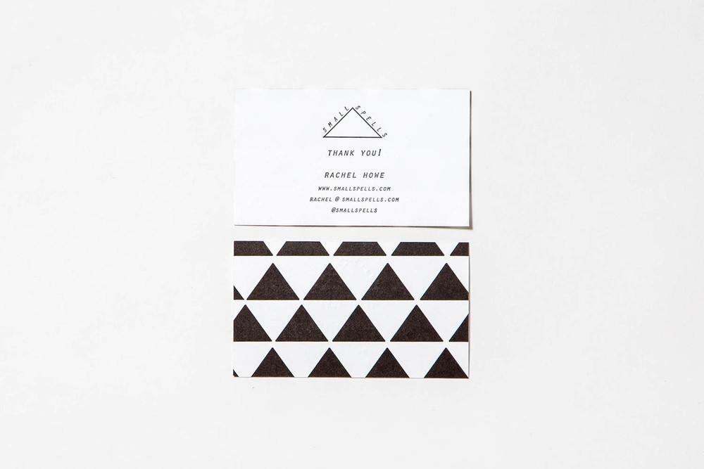 Letterpress Rachel Howe business cards