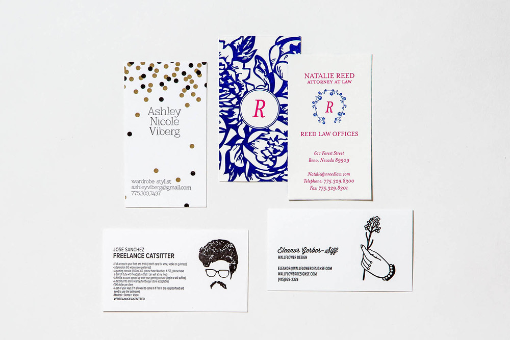 Letterpress custom business cards