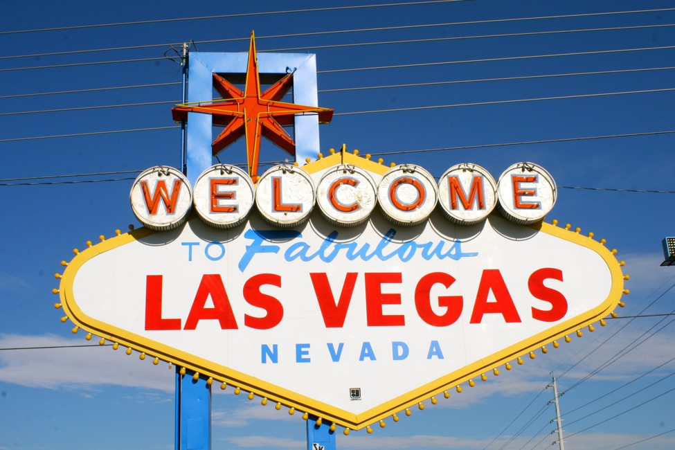 Placa de boas vindas da cidade de Las Vegas.Fonte: @Bugsy