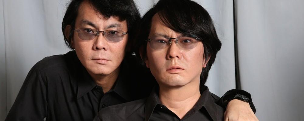 Ishiguro e seu Geminoid. Fonte: Laboratório de Robótica Inteligente, Universidade de Osaka.