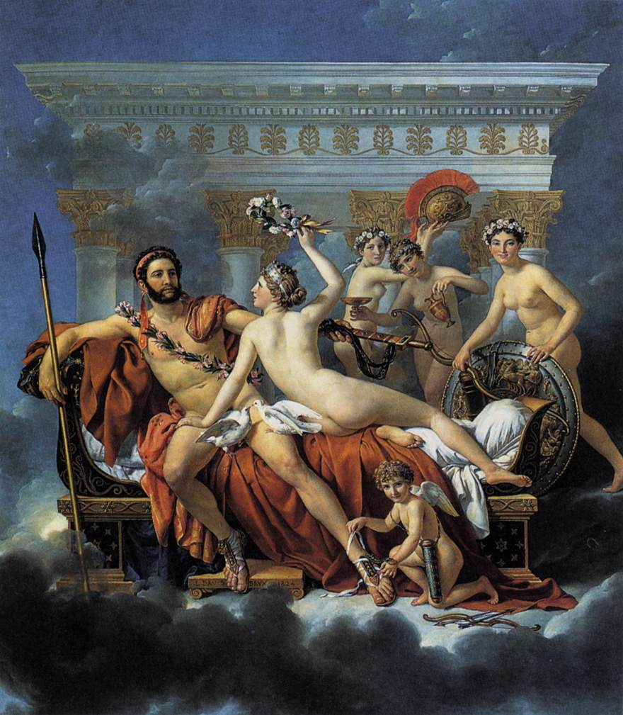 Mars Disarmed by Venus and the Three Graces  Jacques Louis-David, 1824