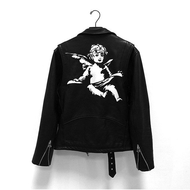 themaxdavis :      Laer Good Music Leather Jacket  Handpainted by  Luke Vicious