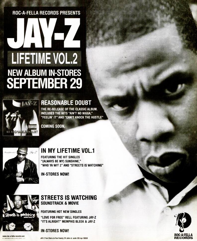 djsavone :      Jay-Z   ' Vol. 2… Hard Knock Life' September 29, 1998 #WhoYaWit