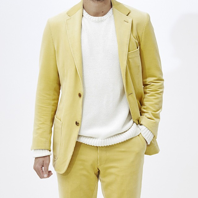 patrickjohnsontailors :     Lemon yellow corduroy #PJT #PJohnson #menswear