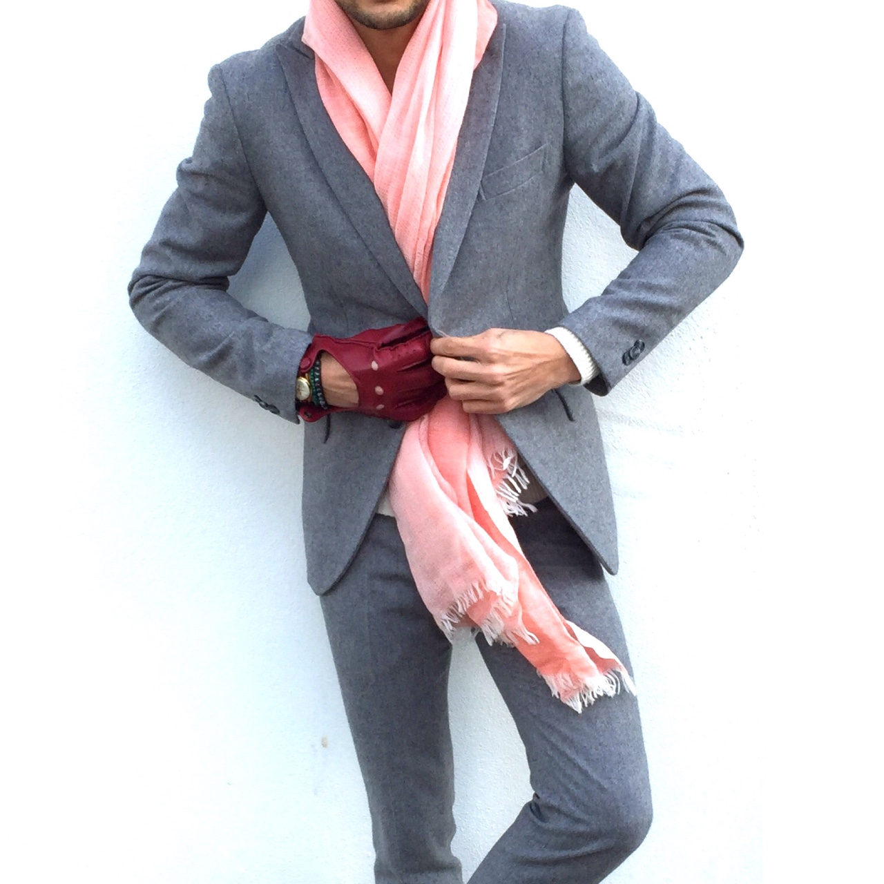 louisnicolasdarbon :     Grey x Pink    Full details of my outfit on the Blog 👉www.louisnicolasdarbon.freshnet.com