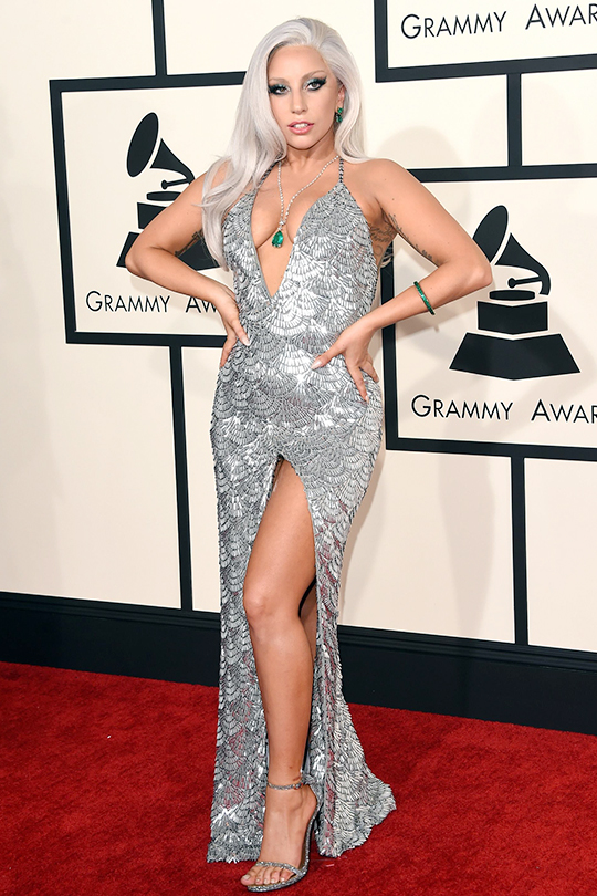 Gaga at the 57th Annual GRAMMY Awards in Los Angeles, California.  2.8.15