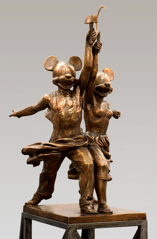 merepictures :      Alexander Kosolapov ,  Mickey and Minni , Bronze, 2004.