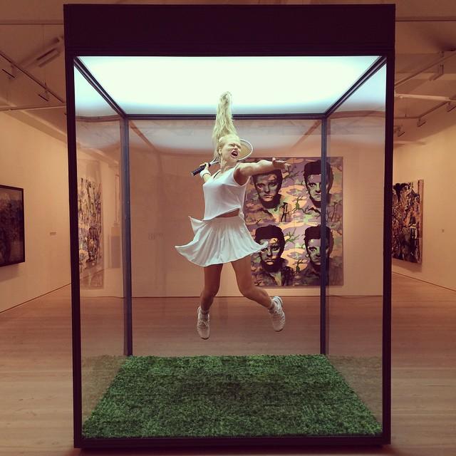 realdigi :      http://instagram.com/p/v_IqfMiqsm/  © by @wallpapermag: 'Post Pop: East Meets West' exhibition at the Saatchi Gallery: 'Tennisplayer', 2002, Oleg Kulik