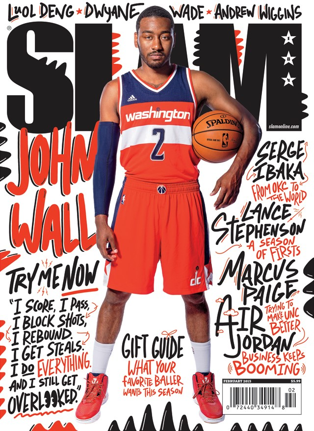 hoops-loop: John Wall gracing the cover of Slam Magazine.
