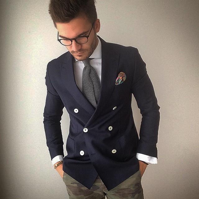 maninpink :     Camo style & Blazer by Justus Hansen