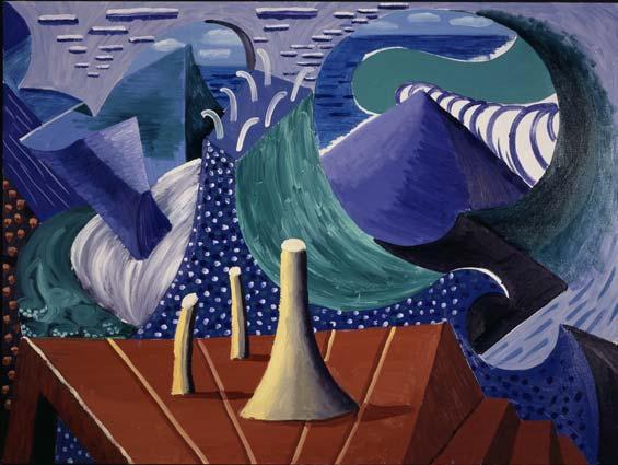 fuckyeahdavidhockney :      The Sea At Malibu, 1988   oil on canvas