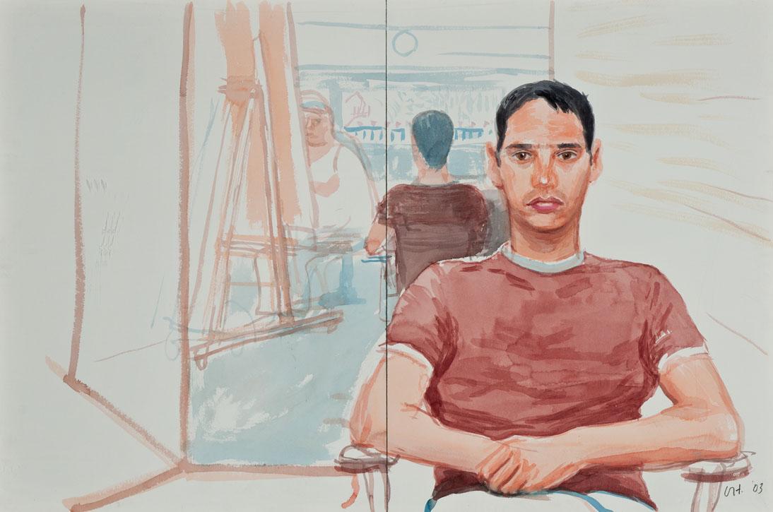 laurentletadic :     Mike Izzo IV by  David Hockney  2003